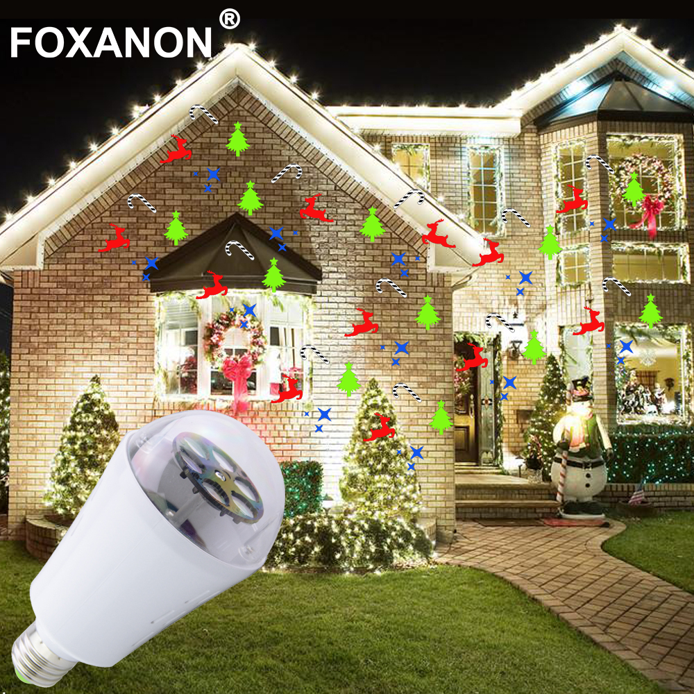 christmas lights 220v holiday led projector bulb outdoor rotating moving dynamic snowflake pattern decoration 110v night lamp in holiday lighting from - Led Projector Christmas Lights