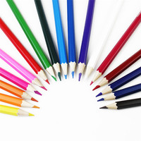 Children Grease Pencil Painting Wood Crayon 12 18 24 36 Colors Set Non Toxic Crayon Oil