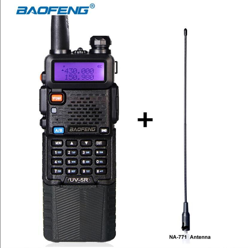 Baofeng UV-5R walkie talkie 136-174mhz 400-520mhz dual band two way radio black color battery 3800mAh portable ham CB radioBaofeng UV-5R walkie talkie 136-174mhz 400-520mhz dual band two way radio black color battery 3800mAh portable ham CB radio