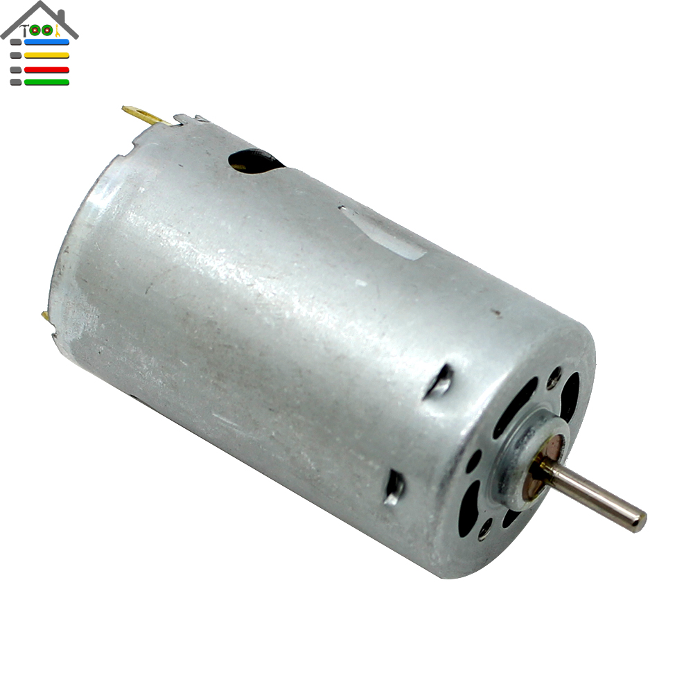 Dc 12v Gear Electric Micro Motor Silver Top Of