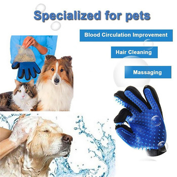 Dog Pet Grooming Glove Silicone Cats Brush Comb Deshedding Hair Gloves Dogs Bath Cleaning Supplies Animal Combs by PROSTORMER 3
