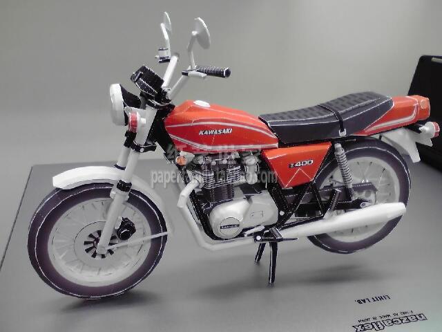 Kawasaki Z400B 3D Paper Model Motorcycle Vehicle Length 244mm Handmade Toy
