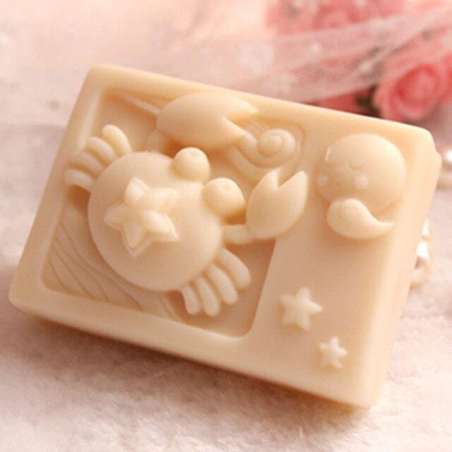 Grainrain Rectangle Mould Silicone Handmade Diy Molds Soap Craft Art Mold Zodiac Cancer