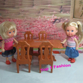new arrival cute girl gift toys furniture for mini doll  table and chair  for mini barbie kelly doll mini furniture