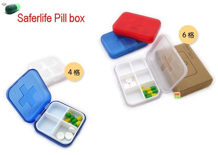 Первой помощи Bandaid коробка с Pill Пластик случае