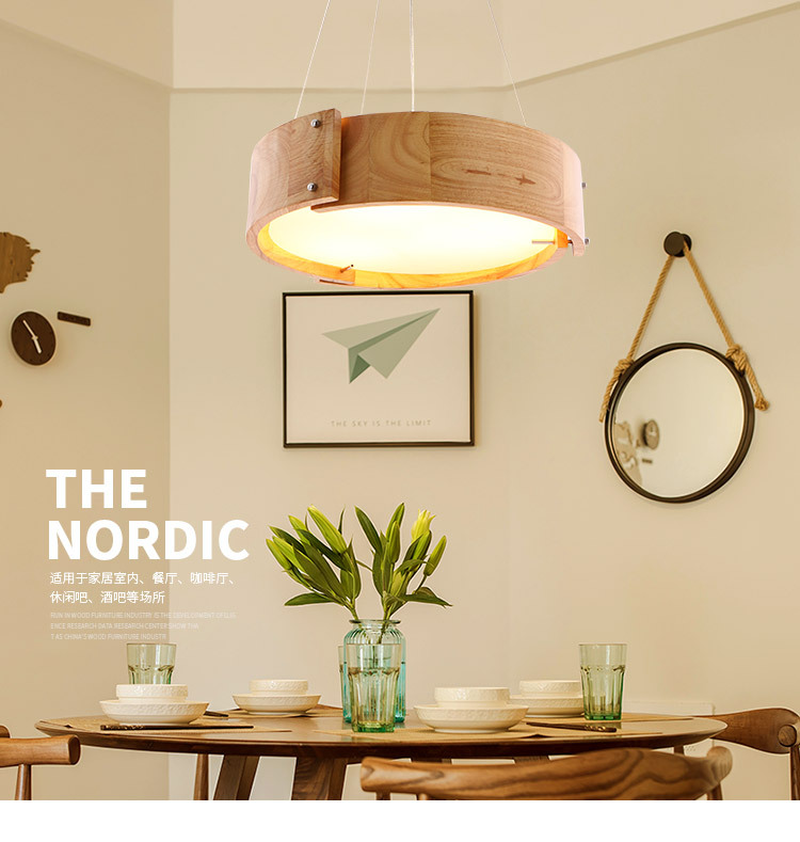 Chandelier Nordic Style Restaurant Solid Wood Creative Personality Single Head Bar Table Hanging Line Lamp Wood Led Bedroom LampChandelier Nordic Style Restaurant Solid Wood Creative Personality Single Head Bar Table Hanging Line Lamp Wood Led Bedroom Lamp