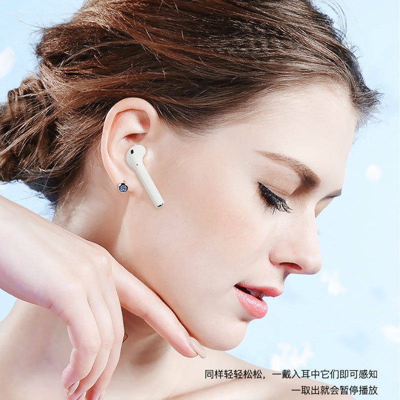 Bluetooth Wireless Headset IPhone7plus/X Aures Unitas 8 Motion Pleasant To Ear Type 6 Mobile Phone General Purpose Hot Sale