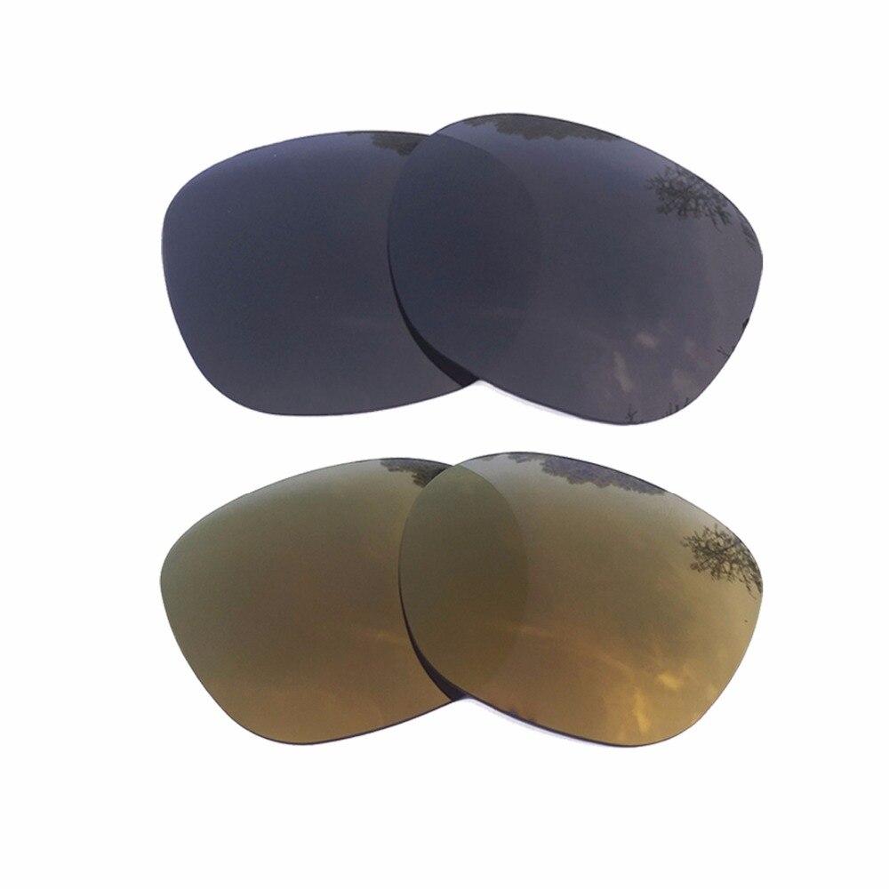 Negro y oro de bronce espejo polarizado lentes de reemplazo para ...