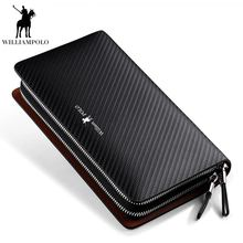 Business Men Clutch Bags Brand Genuine Leather Blue Fashion