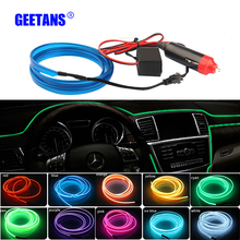 5M Car light Interior Decoration Moulding Flexible Neon Light 10 colours cold light For Peugeot ford BMW Toyota H