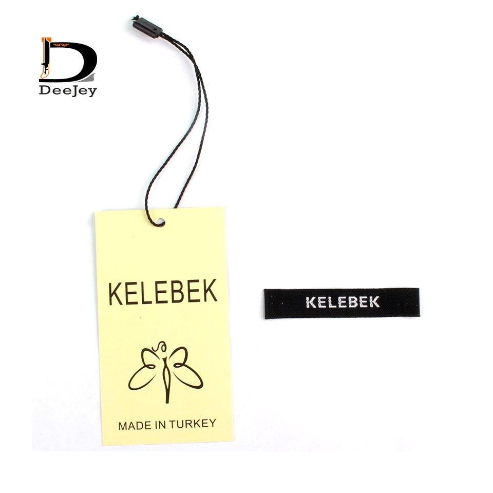 Super valore di corrispondenza di marca etichetta personalizzata tag per abbigliamento etichetta tessuta e appendere tag e mauanl tagging strings 3000 pz lotto-in Etichette per indumenti da Casa e giardino su  Gruppo 3