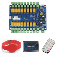 16 roads DC12V Storage access control panel/ cabinet door electronic lock control system board avoid software