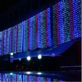 3M*3M New Year Christmas Garland LED String icicle Fairy Light indoor Outdoor For Party Wedding Curtain White/Warm White/RGB