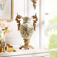 Cracked ceramic vase European Home Furnishing decoration can crack Leah ceramic vase flower