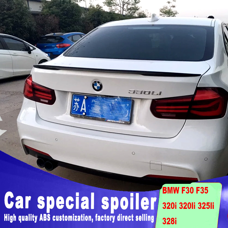 ออกแบบใหม่ 2013 2014 2015 2016 2017 สำหรับ BMW F30 F35 สปอยเลอร์โดยวัสดุ ABS คุณภาพสูง DIY สี F35 320I 320LI 325LI 328i