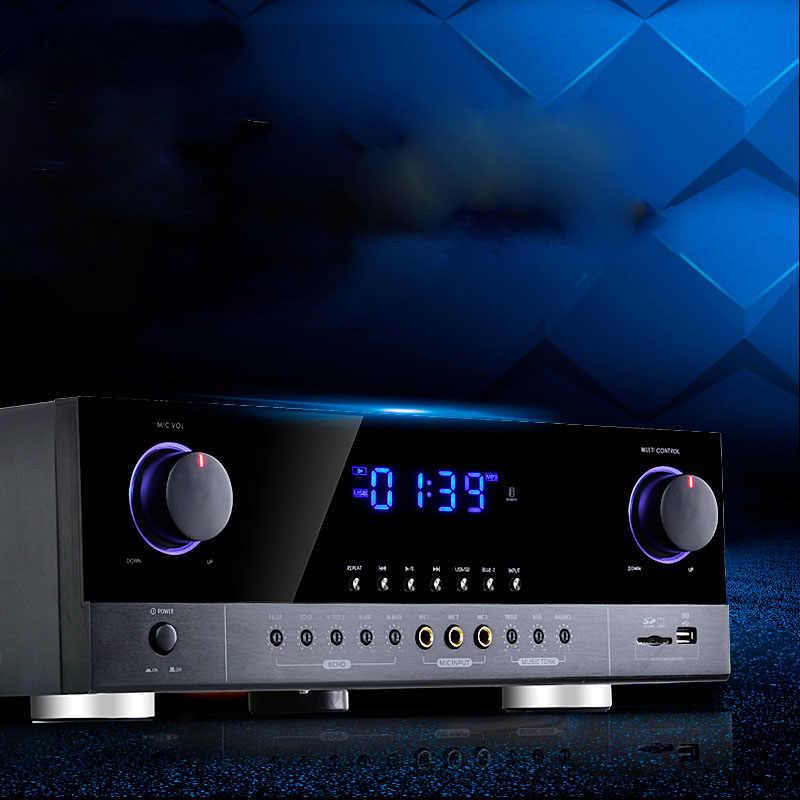 220 В 2,0 мощный домашний усилитель Bluetooth усилитель профессиональный этап KTV аудио усилитель G5-AK390