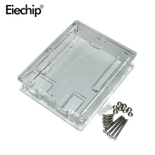 Free shipping Smart Electronics Uno R3 Case Enclosure Transparent Acrylic Box Compatible with for arduino UNO R3