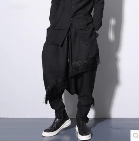 De Pies Tendencia ¡ Pequeños 2017 Black La Trajes Los Ropa Pantalones Hip xxl Del hop black B Primavera Haroun A M Sueltos Caliente Hombres Cantante qqwEP6r7