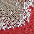 100 шт. 30 мм Мяч Головой Pin Медь Серебристый цвет Diy ювелирных Изделий, изготовление бус, ювелирных аксессуаров