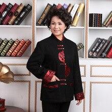 Chinese Traditional Coat Women's Woolen Winter Jacket Size M-4XL m 4xl