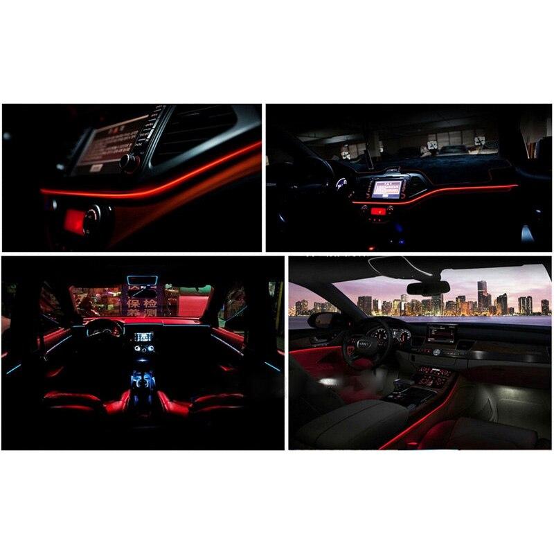 Dc 12v Flexible Led Car Interior Mouldings 3m For Car Atmosphere