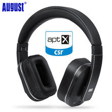 August EP750 Active Noise Cancelling Bluetooth Wireless Headphones Reduce Air Travel Engine Noise ANC Wireless APTX Headset