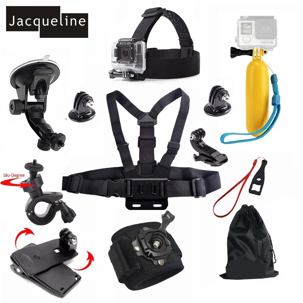 Jacqueline pour accessoires Kit flotteur bâton coffre pour Gopro Hero 6 5/4/3 +/3 pour DBPOWER 12MP/EX5000 WIFI 14MP pour SJCAM Sj6000