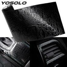 YOSOLO, автомобильные наклейки для интерьера, s, автомобильные наклейки, пленка, Имитация крокодиловой кожи, декоративные наклейки для интерьера, 150*10 см