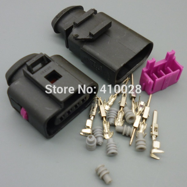 30sets 1.5mm  male&female Kit 4 Way air press sensor Connector Repair Kit For A4 A6 VW NEW 1J0 973 704 1J0973704 free shipping