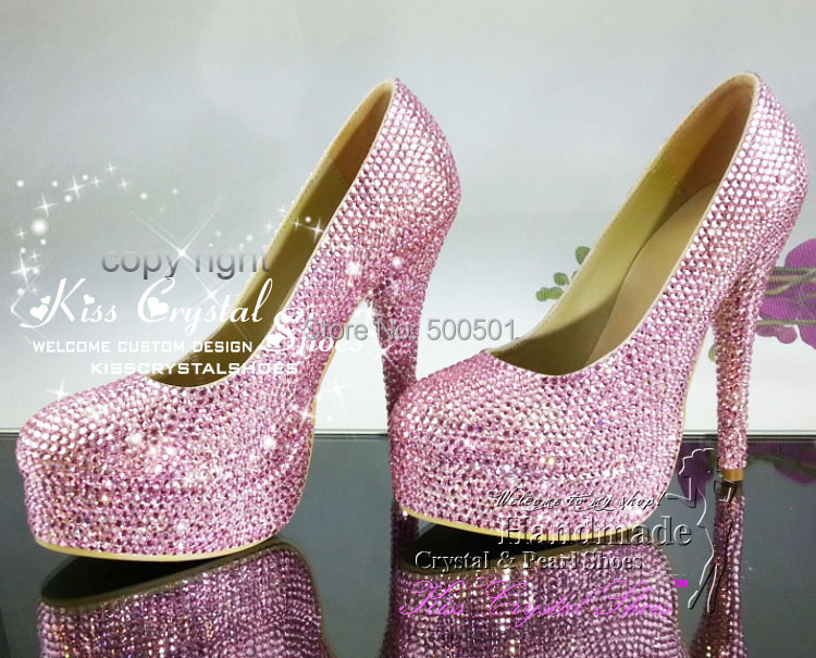 Aliexpress.com : Buy PINK WOMEN PUMPS HIGH HEELS bling CRYSTAL