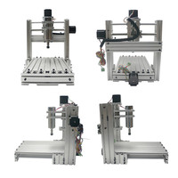 DIY Mini drilling and milling machine 30*20 4 axis CNC Router for PCB and woodworking drilling