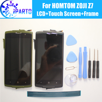 HOMTOM ZOJI Z7 LCD Display Touch Screen Frame Assembly 100 Original LCD Digitizer Glass Panel For