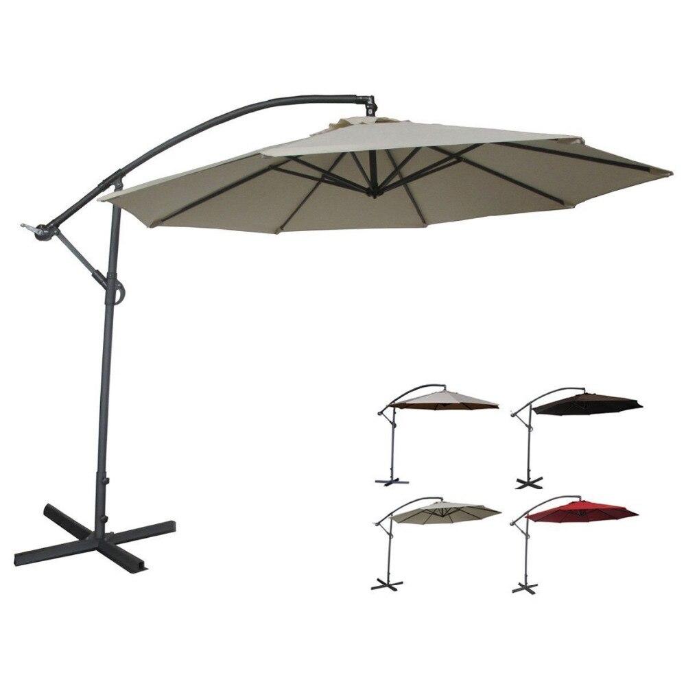 Uv Patio Umbrella: Abba Patio Deluxe Ivory 10 Ft Adjustable Cantilever
