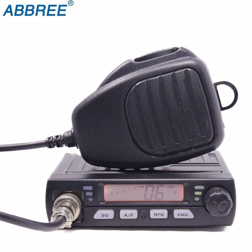 ABBREE AR-925 CB Compact AM/FM Mini Talkie Walkie Mobie 8 w CB Voiture Radio 26 mhz 27 mhz 10 mètre Amateur Mobile Radio Bande Radio