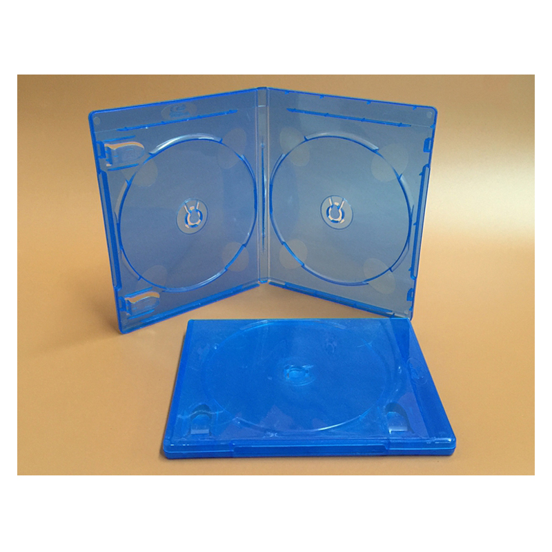 2PCS Double Blu-ray Disc Blue Soft Plastic Case 171X135X11MM Hold Insert / Hold 2 Disc