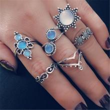 bohemian opal ring bagues pour femme women rings anillos mujer ring set bague femme stainless steel aneis feminino wedding rings цена