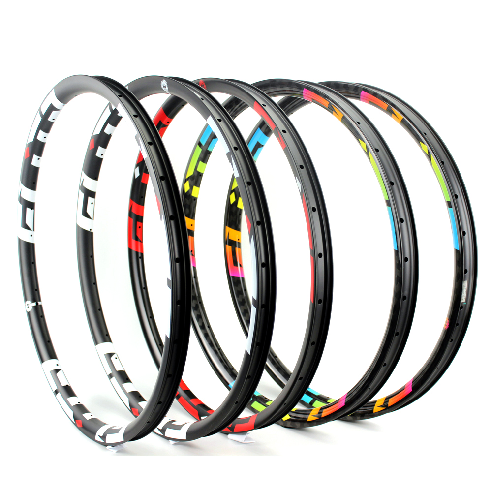 High Quality 29er MTB Carbon Wheel Rim 24H 28H 32H 36H For XC AM DH Enduro Mountain bike 29 Wheel 3k 6k 12k Ud Matte Glossy