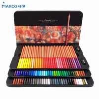 Marco Renoir набор карандашей 24/36/48/72/100 цветов, профессиональные цветные карандаши, мелки для раскрашивания, набор карандашей для рисования, опто...