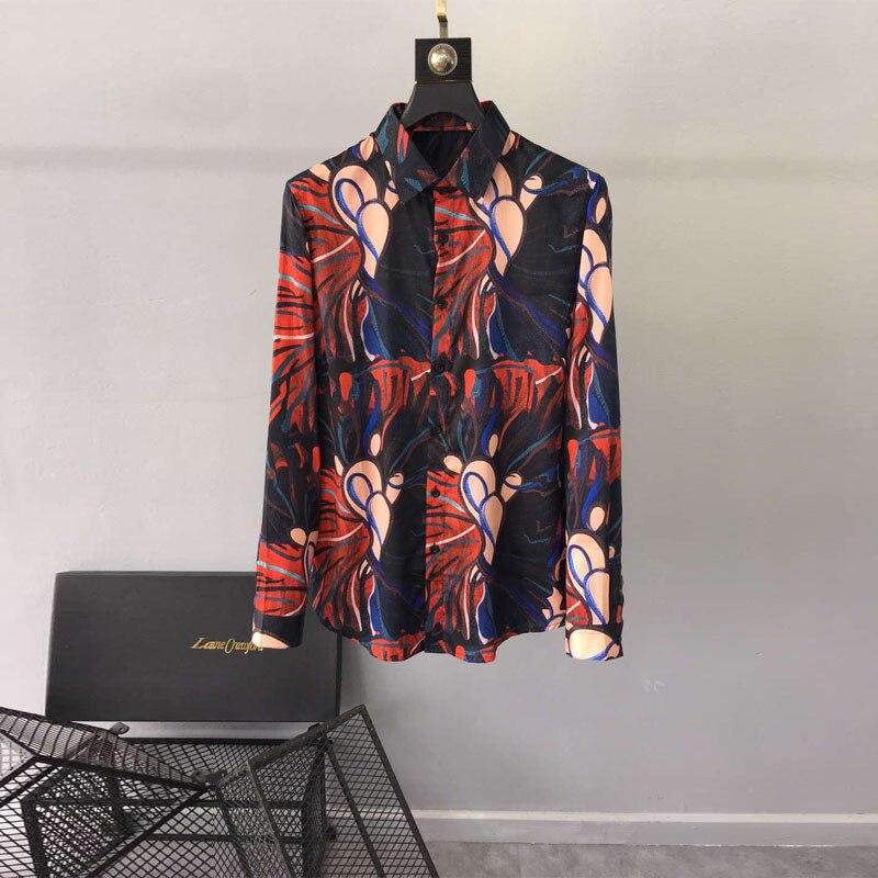 Camisas Ropa Marca Europeo Los Hombres Diseño Fiesta D02744 Estilo Lujo Moda 2019 Pista Famosa De La wI6T8xqqB