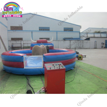 Newest inflatable mechanical bull riding toys for sale , PVC inflatable rodeo bull machine mat+bull