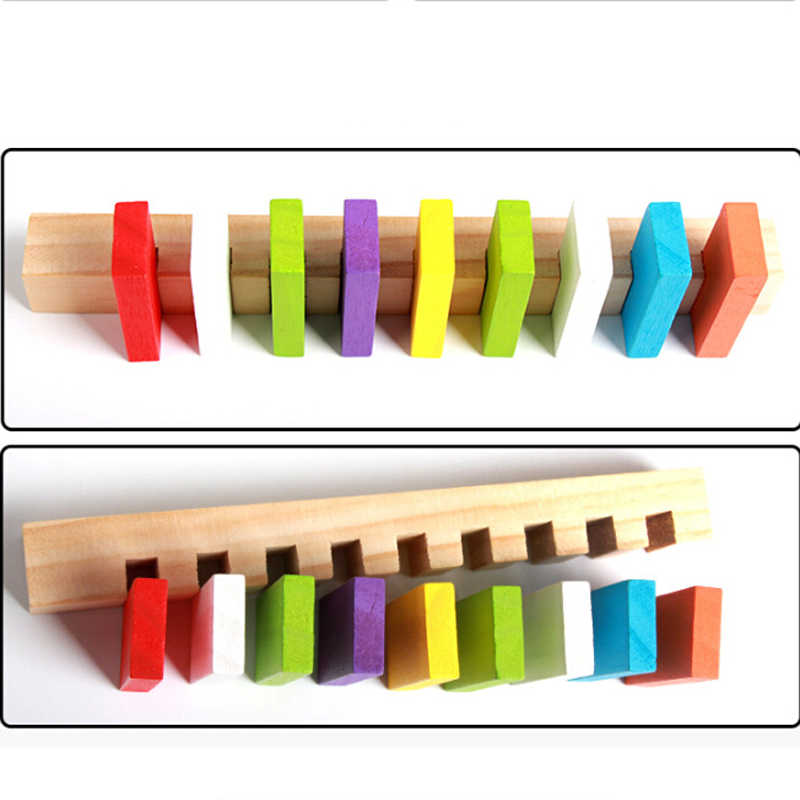 Hot Selling Domino Games For Kids Wooden Domino Helper Educational Toys Kid Child Birthday Gift