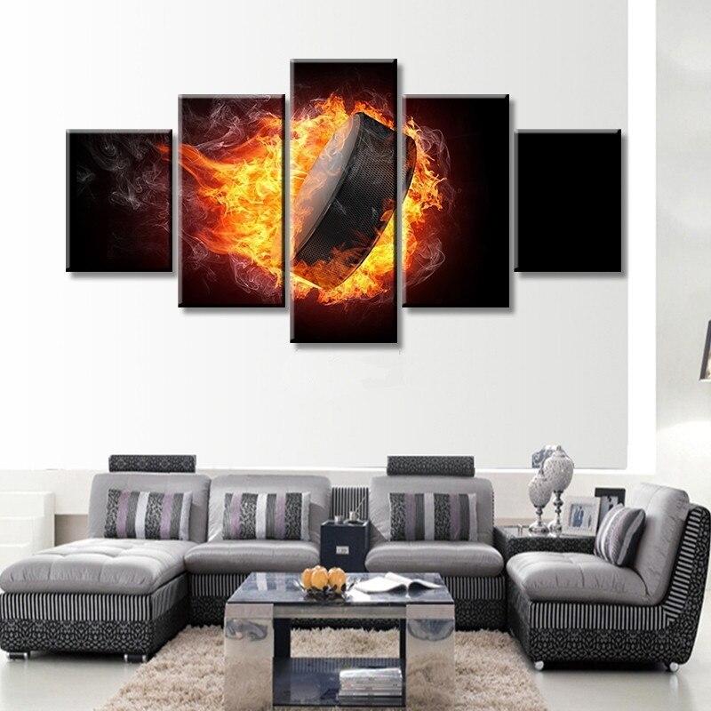 Плакат современных кадров для Картины высокое качество холст картина 5 Панель Куадрос украшения дома Книги по искусству принт модульной по...