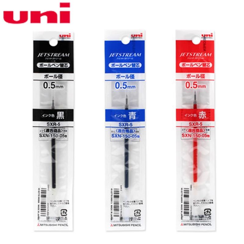 5 x Uni-ball Jetstream SXN-150C 0.5mm Oil-based Retractable Ball Point Pen Blue