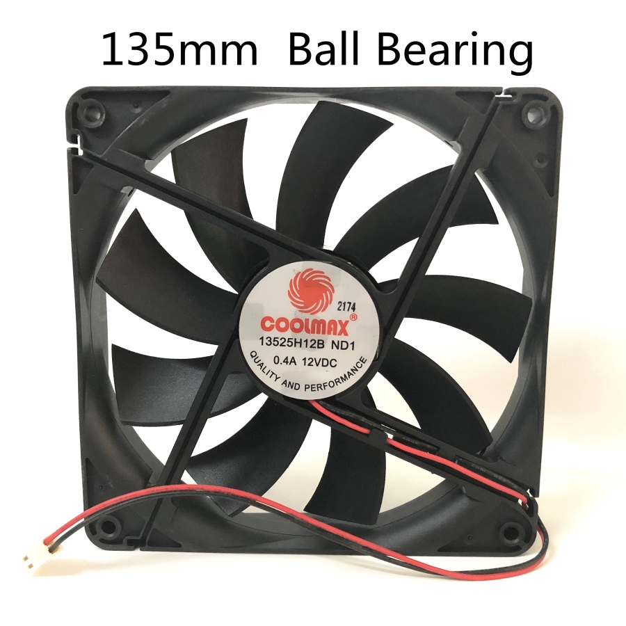 Silent 135MM 1325 13525 135*135*25MM  Chassis Fan 13525 Thin 13.5CM 12V 0.4A 2pin