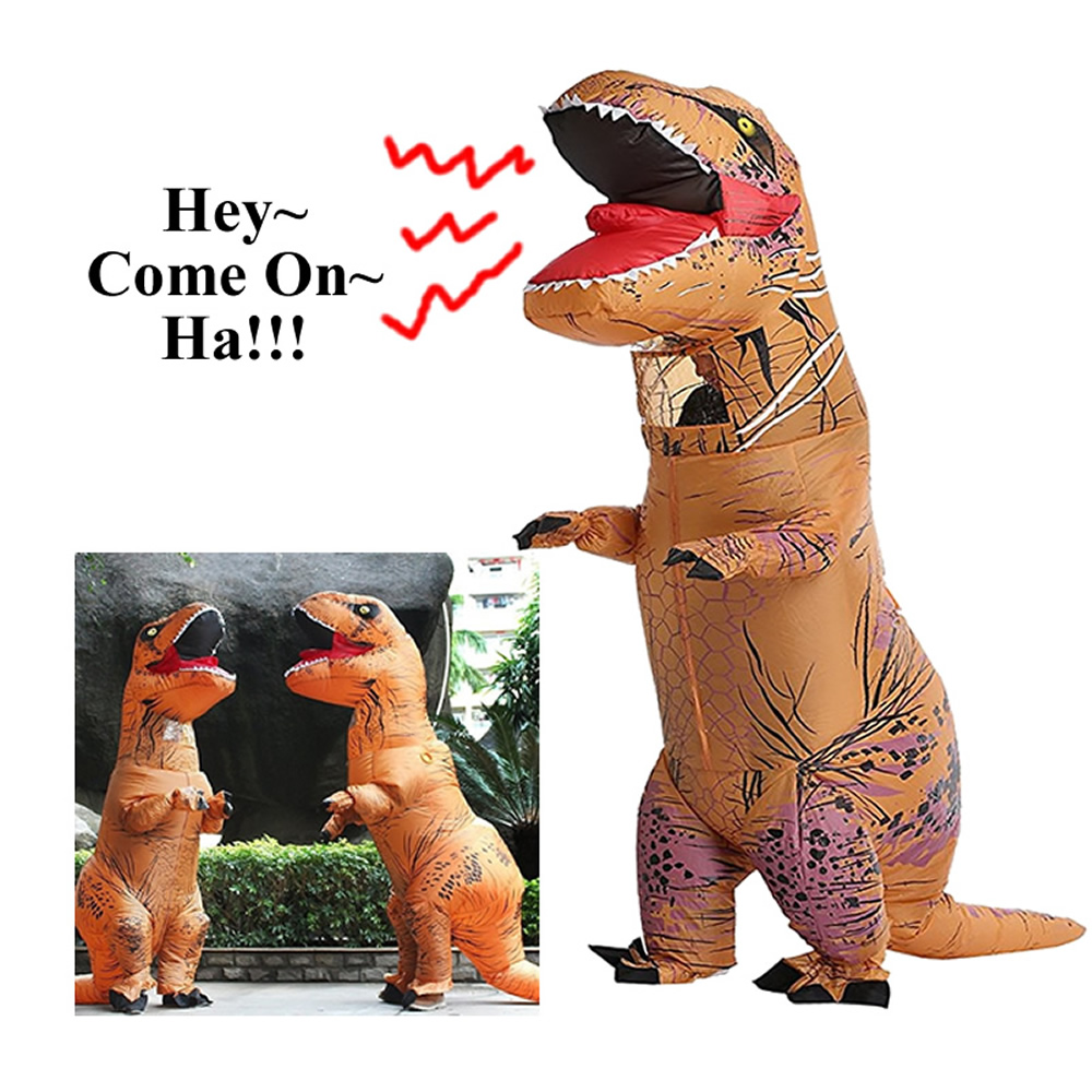 Adult Dinosaur T REX Costume Jurassic World Park Blowup Dinosaur Cosplay Inflatable Costume Party Costume