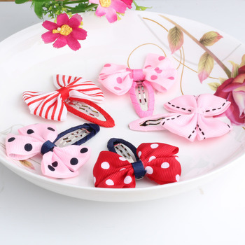 New Sold By Pairs Girls Hair Accessories Candy Color Dot Bow Hairpins Cute BB Accessories Hair Accessories Bowknot Hair Clip