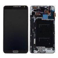 삼성 갤럭시 노트 3 n900a n900t 4g 스마트 폰을위한 lcd 디스플레이 화면 디지타이저 프레임