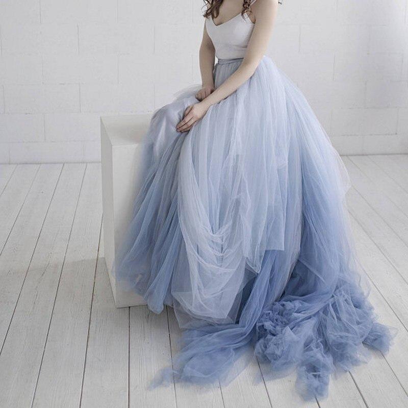 Тюлевые юбки для свадебных фотосессий, 2 цвета, на заказ, 2018, пушистые Бальные платья на молнии