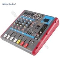 5 канал Bluetooth микрофон консоли цифровой микшер для Запись Studio этап DJ с 48 В монитор USB DSP