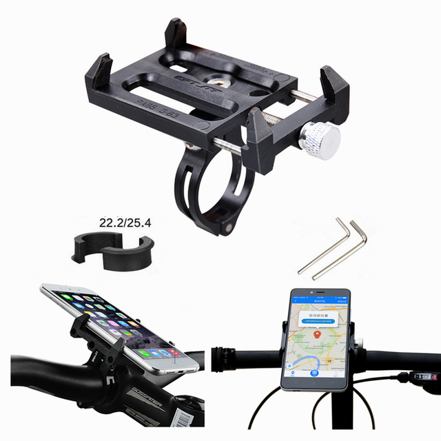 Bike Bicycle Motorcycle Scooter Handlebar Mount Holder Phone Holder For 3.5 6.2 inch phone MP4 GPS 31.8 25.4 22.2mm handlebar